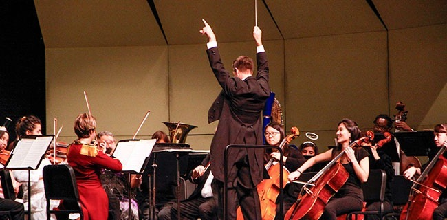 Orchestra concert conducted by Michael Powers held at the Sexson Auditorium on PCC on Oct. 25, 2014. (Daniel Valencia/Courier)
