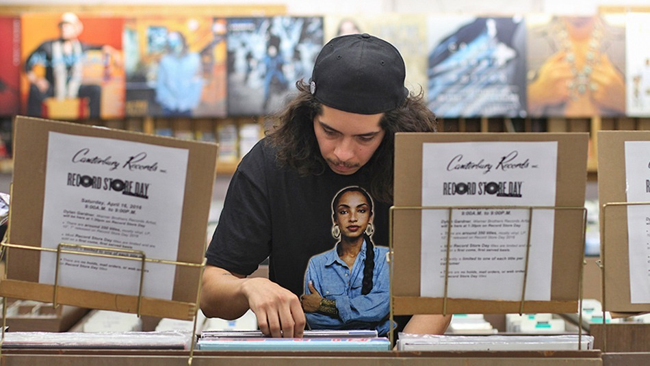 Guadalupe Alvarez/Courier Mark and Matteo Baker looking at records in the Canterbury Records Store located in Pasadena on the Record Store Day on April 16, 2016.